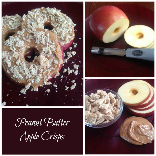 Peanut Butter Apple Crisps