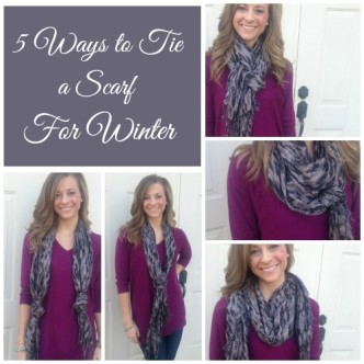 5 Ways to Tie a Scarf Collage