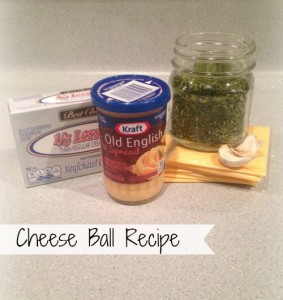 Cheese Ball Recipe Ingredients
