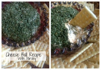 Cheese Ball Recipe with Parsley