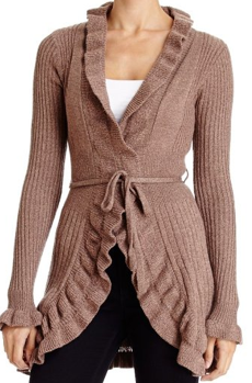 Ruffle Cardigan Sweater