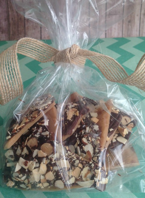 Chocolate Almond Toffee Recipe Bag