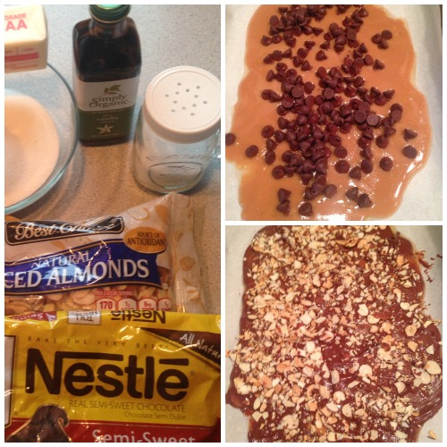 Chocolate Almond Toffee Recipe Ingredients