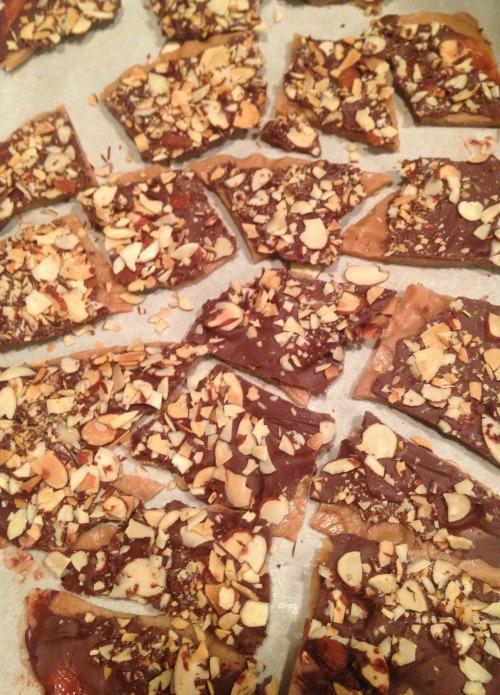 Chocolate Almond Toffee Recipe Pieces