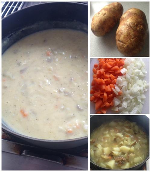 Homemade Potato Soup Recipe Ingredients