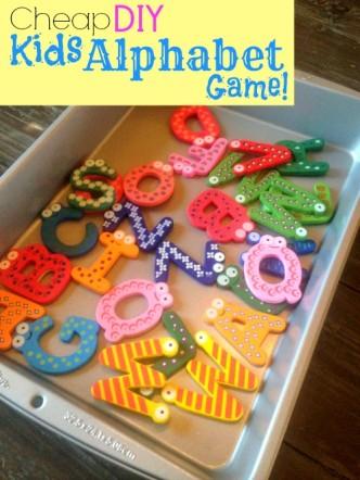 Cheap DIY Kids Alphabet Game
