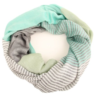 Solid Striped Infinity Scarf