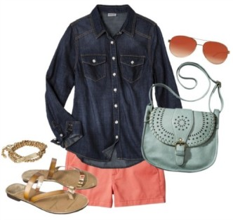 Colored Shorts Summer Outfit