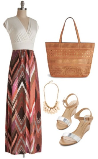 Dressy Maxi Dress Summer Outfit