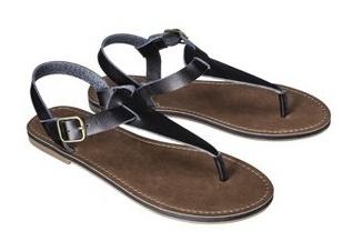 Target Black Sandals - Lemon Peony