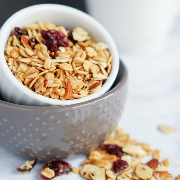 Baked Cranberry Almond Granola Recipe