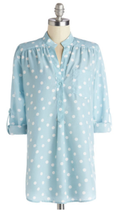 Blue Polkadot Tunic