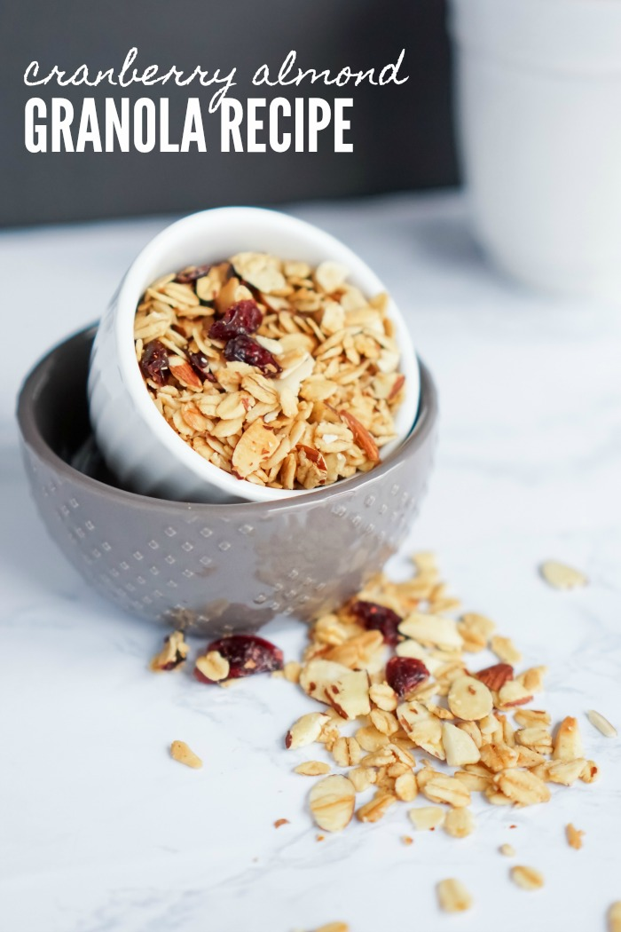 Cranberry Almond Granola Recipe