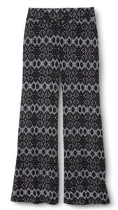Knit Patterned Palazzo Pants