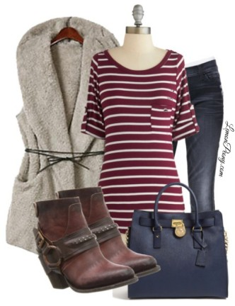 Cheap Fur Vest Outfit for Fall and Winter