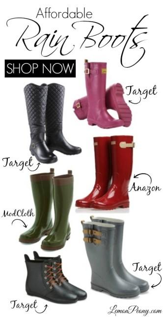 Cheap Rain Boots