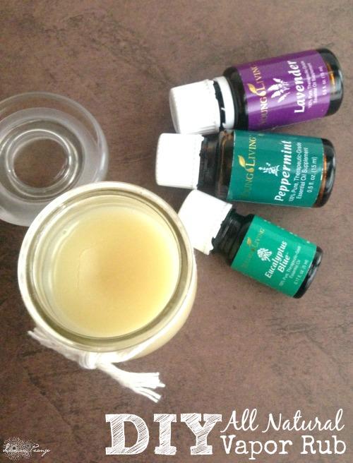 DIY All Natural Essential Oils Vapor Rub