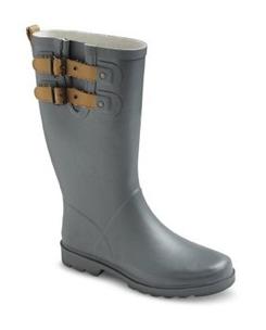 Gray Rain Boots
