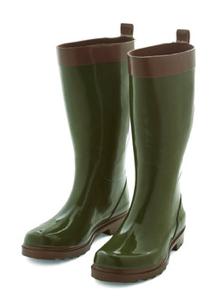 Green Rain Boots