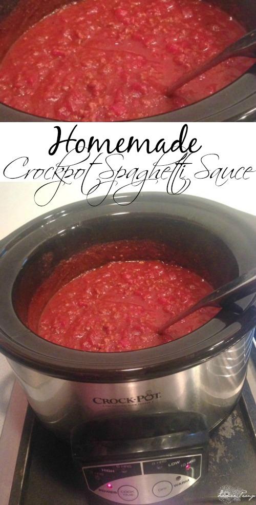 Homemade Crockpot Spaghetti Sauce