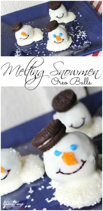 Melting Snowmen Oreo Balls Recipe