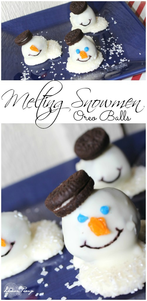 Melting Snowmen Oreo Balls Recipe