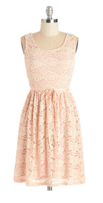 Peach Lace Dress for Easter