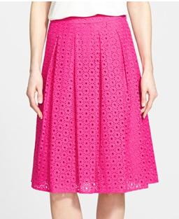 Pink Eyelet Skirt