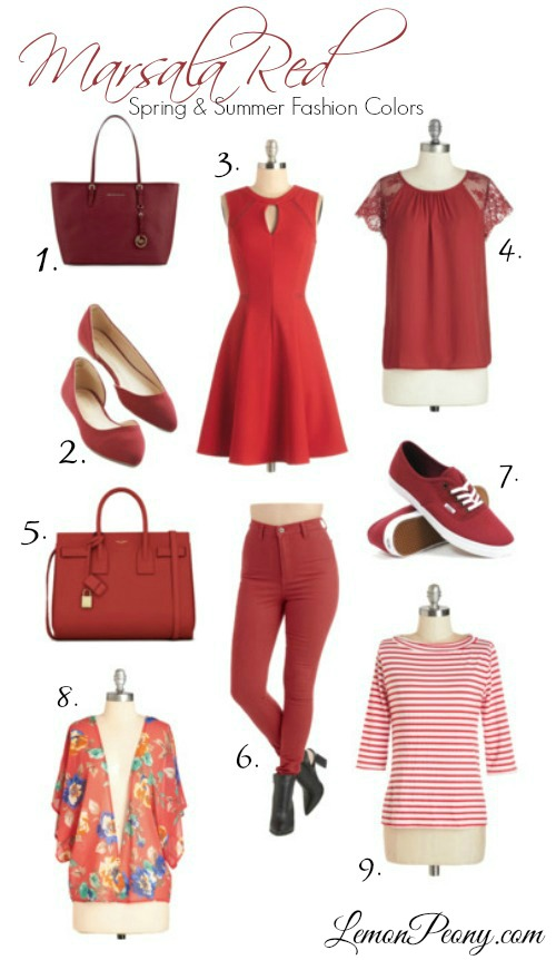 Red Fashion Trends