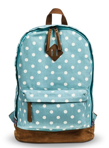 Blue Polkadot Backpack