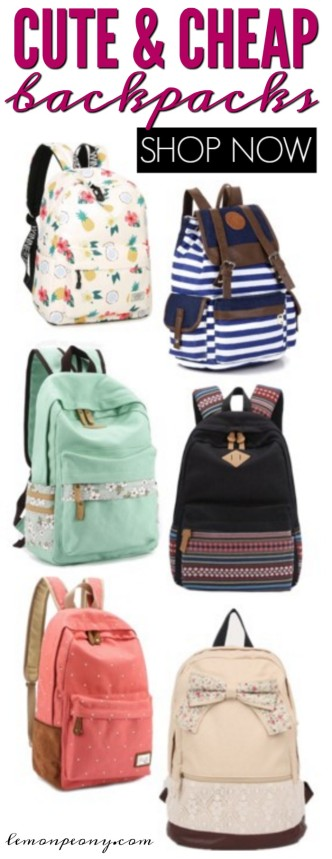 Cute and Cheap Backpacks