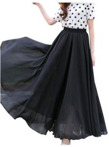 Black Maxi Tulle Skirt