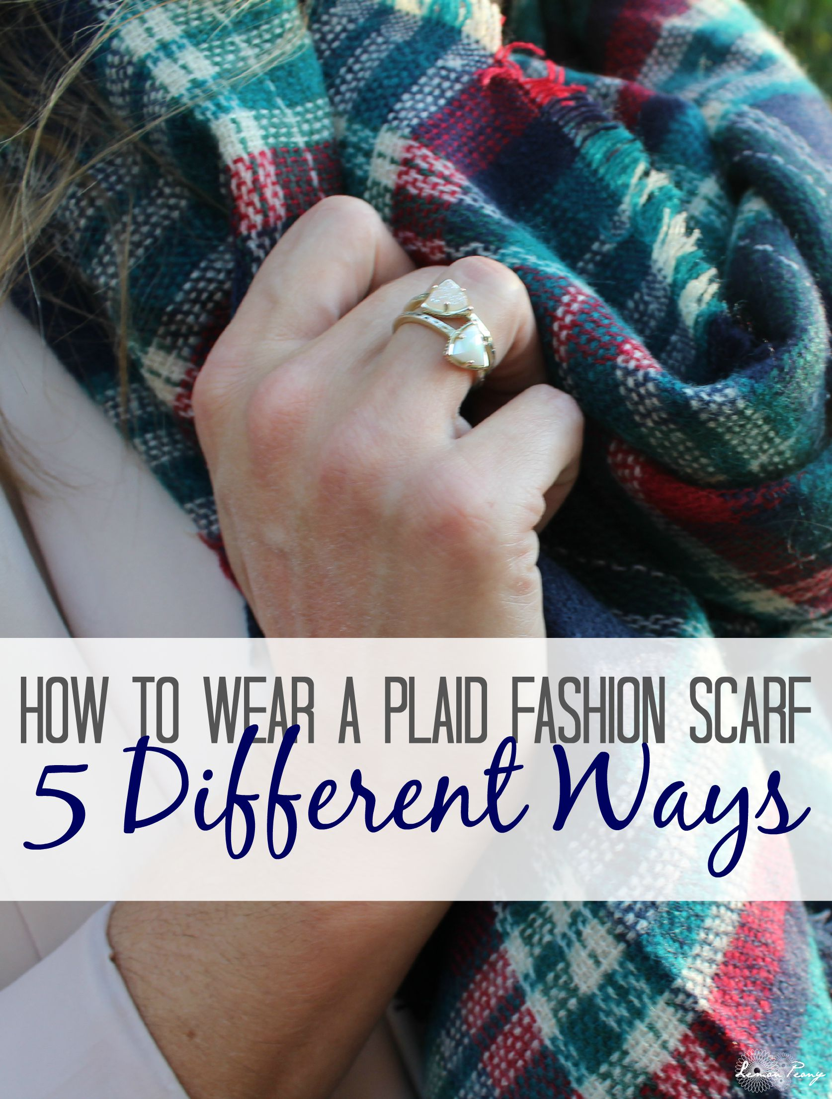 How to Wear a Plaid Fashion Scarf 5 Different Ways! Everyday Style Trends for Fall and Winter!