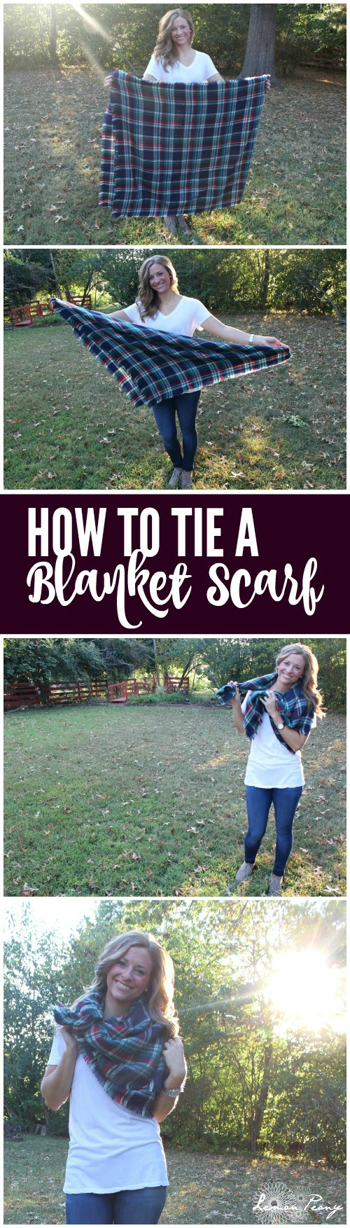 How to Tie a Blanket Scarf! Cute Fall and Winter Everyday Casual Style Fashion Trends and Simple Steps to tie Blanket Scarves!