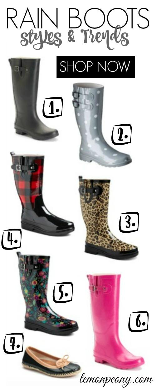 Rain Boot Styles