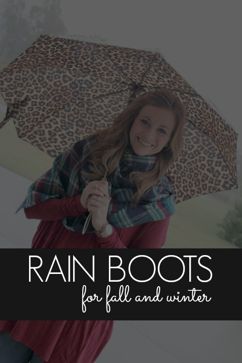 Rain Boot Trends for Fall and Winter. Rainy Day Everyday Fashion Trends for Women!
