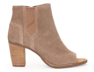 Black Suede Perforated Women's Majorca Peep Toe Booties