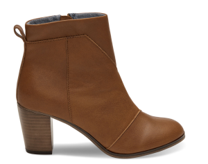 warm tan leather womens lunata booties