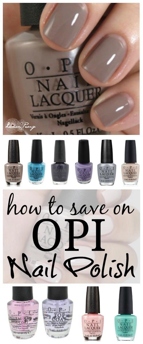 How to Save on OPI Nail Polish