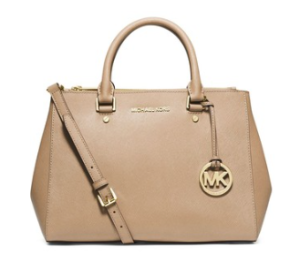 Michael Kors Jet Set Travel Dressy Leather Tote