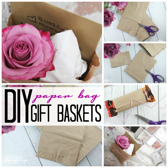 DIY Paper Bag Gift Baskets