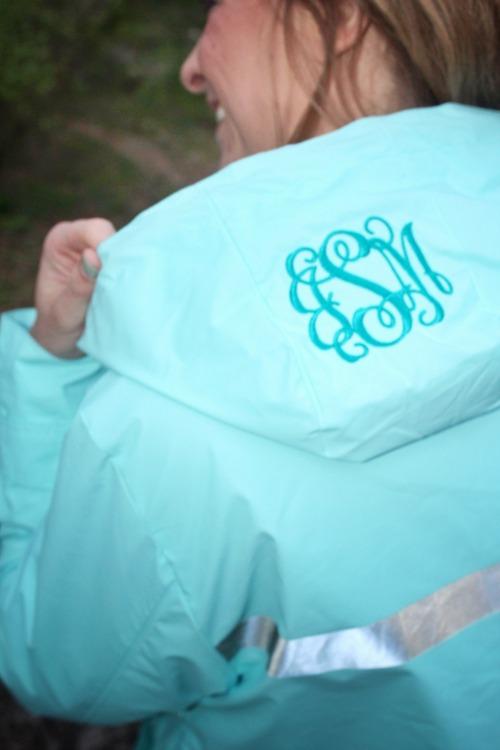 Rain Jacket with Monogram