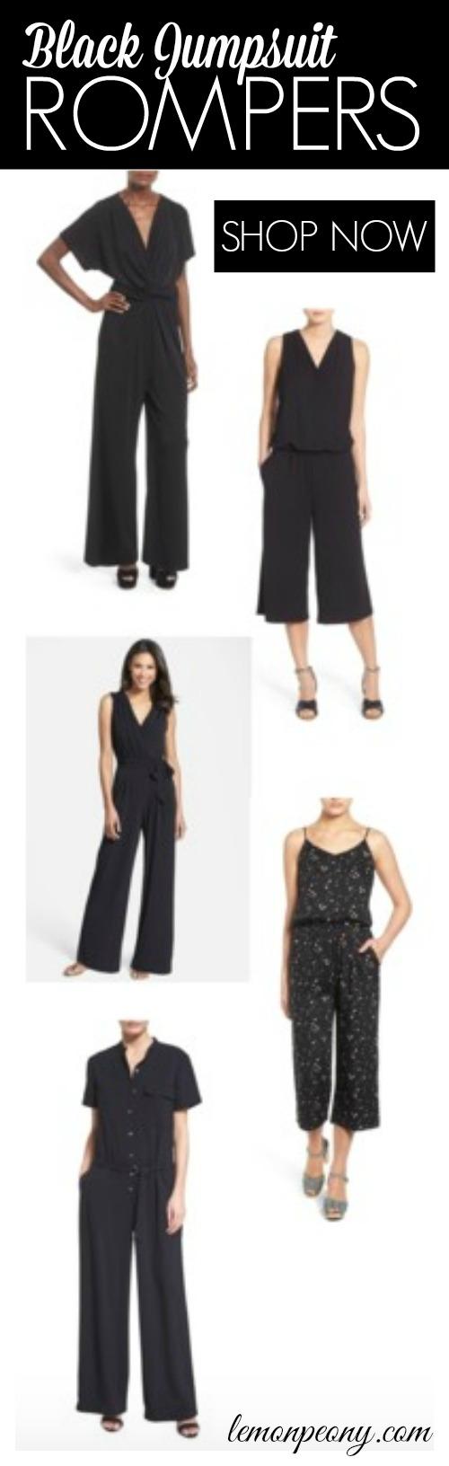 Black Jumpsuit Rompers Fashion
