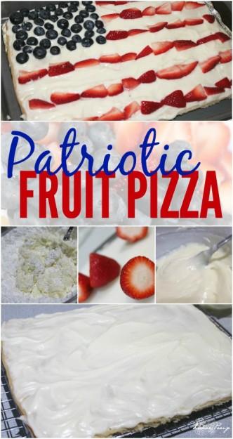 Patriotic Fruit Pizza Recipe