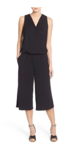 Sleeveless Jersey Crop Jumpsuit