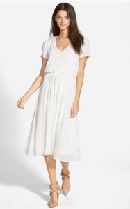 Blouson Midi Dress