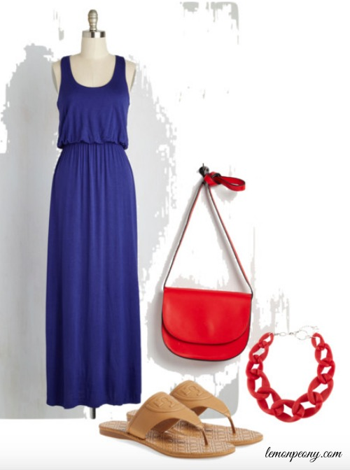 Blue Maxi Dress Outfit