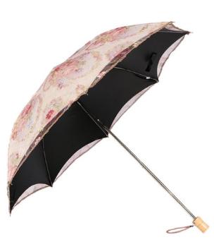 Floral Vintage Pink Umbrella