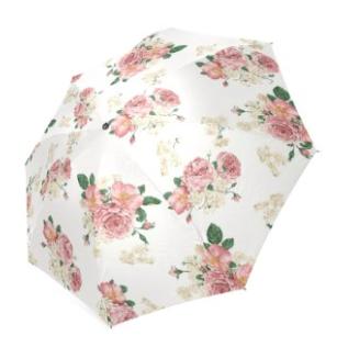 Pink Floral Umbrella