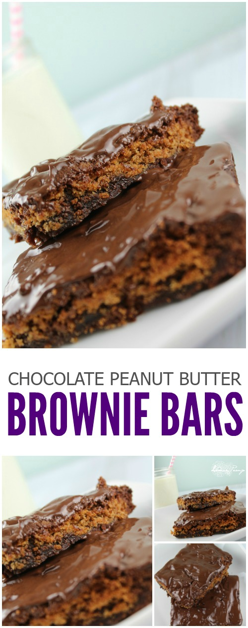Chocolate chip peanut butter brownie bars